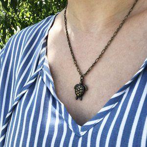 Jewelry - Antique Brass Sea Turtle Necklace